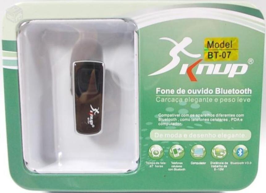 FONE BLUETOOTH SEM FIO KNUP BT - 07