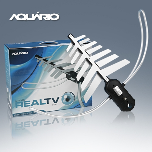 ANTENA EXTERNA PARA TV VHF/UHF/FM/HDTV DTV-3000 AQUARIO