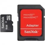 CART�O MICRO SD COM ADAPTADOR 4GB SANDISK