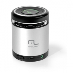 SPEAKER MULTILASER BLUETOOTH 10W PRATA - SP155
