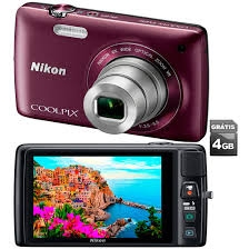 C�MERA DIGITAL NIKON S4400 AMEIXA + CART�O SD 4GB