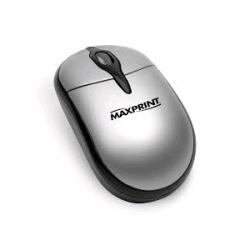 MOUSE OPTICO PS2 PRATA/PRETO MAXPRINT - 605280
