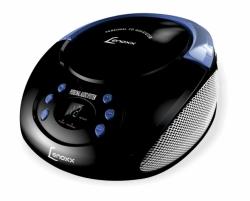 CD PLAYER MP3 PORTATIL PRETO BD111 USB LENOXX PRETO/AZUL
