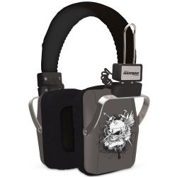 HEADPHONE MAXPRINT CAVEIRA PRETO/CINZA - 609706