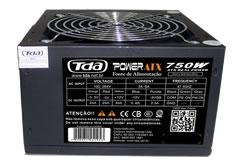 FONTE ATX 750W GAMER ATX750WP4 TDA PRETA