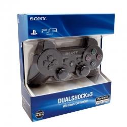 CONTROLE SEM FIO PS3 DUAL SHOCK ORIGINAL SONY PRETO